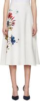 Erdem White Floral Maury Skirt