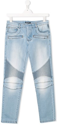 Balmain Kids TEEN skinny biker jeans