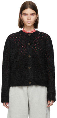 Marc Jacobs Black Mohair Fishnet Cardigan