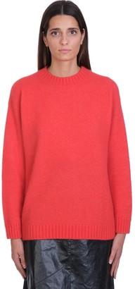 Laneus Knitwear In Red Wool