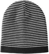 Joe Fresh Men's Stripe Ribbed Knit Hat, Light Navy (Size O/S)