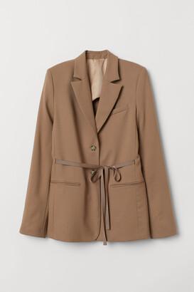 H&M Wool Jacket with Ties