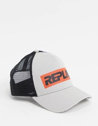 Replay logo contrast trucker cap