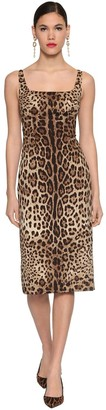 Dolce & Gabbana Printed Silk Charmeuse Midi Dress