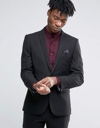 Harry Brown Slim Fit Suit Jacket in Black