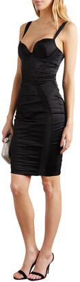 Agent Provocateur Brandi Mesh-trimmed Duchesse-satin Mini Slip Dress