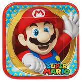 Disney 8ct Super Mario Square Disposable Plates