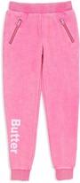 Butter Shoes Girls' Zip-Pocket Sweatpants