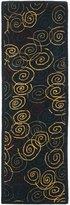 Safavieh HA202A-28 Handmade Navy Hand-Spun Wool Area Runner, 2-Feet 3-Inch by 8-Feet