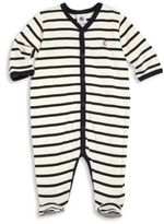 Petit Bateau Baby's Two-Tonal Striped Footie