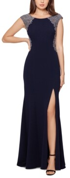 Xscape Evenings Embellished Lace-Trim Gown