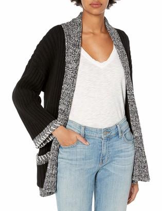 525 America Women's Tweed Trim Opne Cardigan