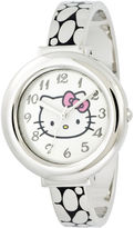 Hello Kitty Silver-Tone Hinged Bangle Watch