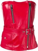 Manokhi leather bodice top