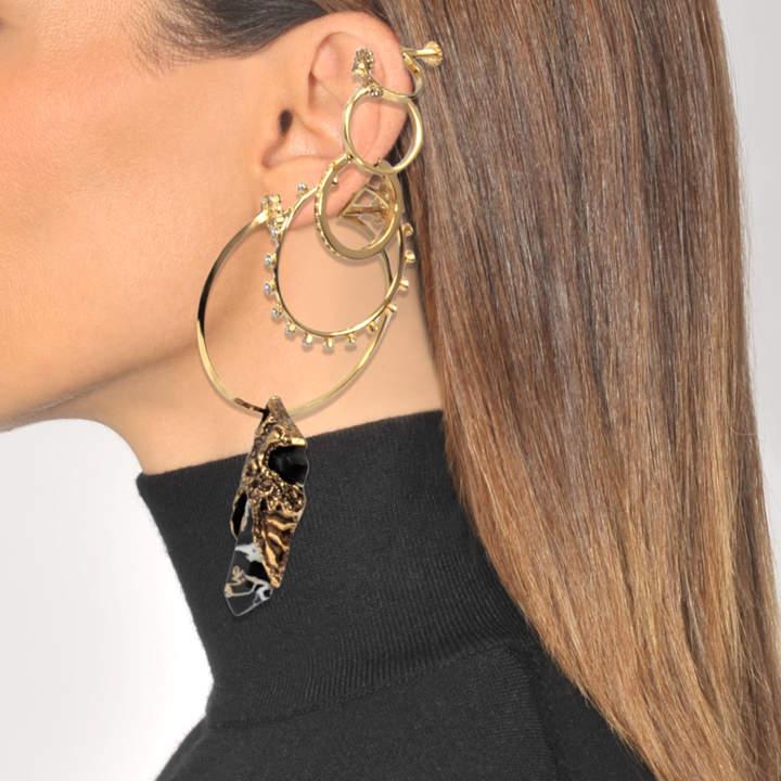Alexander McQueen Multi Earring Stone