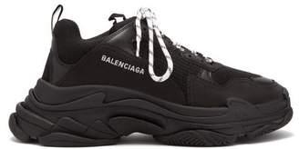 Balenciaga Triple S Low-top Trainers - Mens - Black