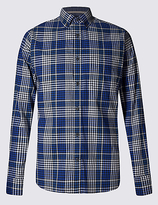 Blue Harbour Pure Cotton Long Sleeve Gingham Shirt