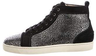 Christian Louboutin Louis Flat Strass Sneakers