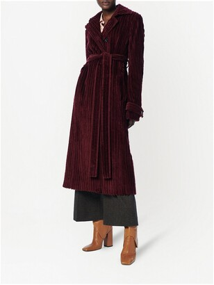 VVB Long Ribbed Wool Coat
