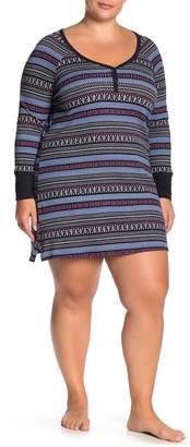 Joe Fresh Allover Print Pajama Dress (Plus Size)