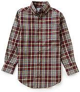Class Club Big Boys 8-20 Button-Front Plaid Shirt