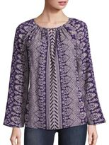 Tory Burch Varenne Silk Printed Tunic Top