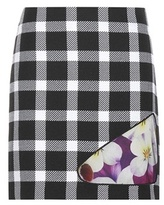 Christopher Kane Gingham virgin wool-blend skirt