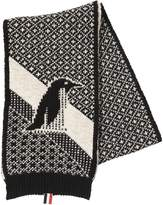 Thom Browne Penguin Mohair & Wool Jacquard Scarf