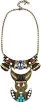 Cota oxidized brass Swarovski crystal necklace