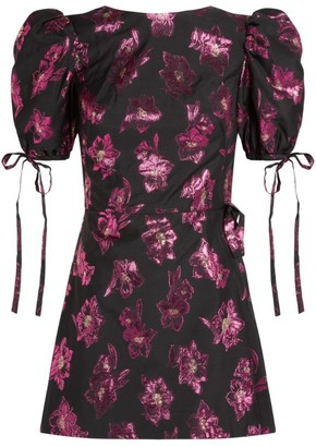 The Vampire's Wife Wrapsody Jacquard Mini Dress