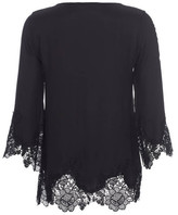 Gold Hawk Anjelica Lace 3/4 Sleeve Top