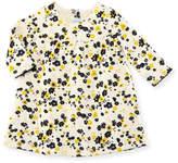 Petit Bateau Long-Sleeve Floral Print Dress, Size 3-36 Months