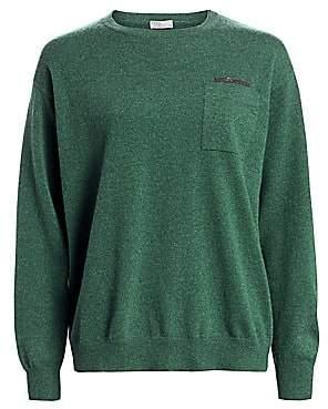 Brunello Cucinelli Women's Monili-Trim Cashmere Sweater
