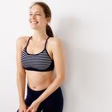 J.Crew New Balance® for striped sports bra