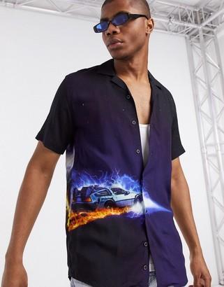 Criminal Damage back to the future shirt in black
