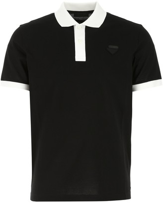 Prada Two-Tone Pique Polo Shirt