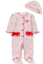 Little Me Baby Girls Newborn-9 Months My First Christmas Dot Print Footed Coverall