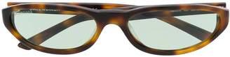 Balenciaga Acetate Oval Sunglasses