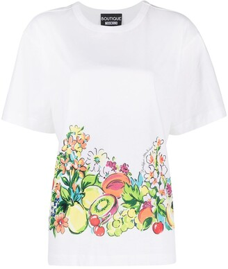 Boutique Moschino fruit print cotton T-shirt