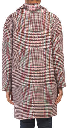 Wool Blend Menswear Plaid Coat