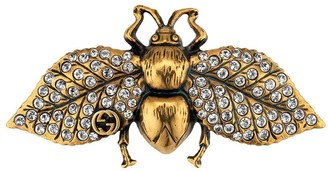 Gucci Crystal-Embellished Bee Hair Slide