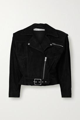 IRO Lonzo Cropped Suede Biker Jacket - Black