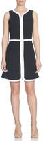 CeCe by Cynthia Steffe Contrast Trim Sleeveless Crepe A-Line Dress