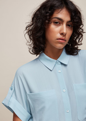 Textured Short Sleeve Blouse