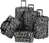American Flyer 5-Piece Zebra Luggage Set