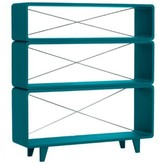 Laurette Millefeuille shelving unit - canary blue