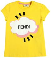 Fendi Cloud Printed Cotton Jersey T-Shirt