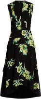 Proenza Schouler Lily-print dip-hem silk-crepe dress