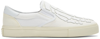 Amiri White Skeleton Toe Slip-On Sneakers