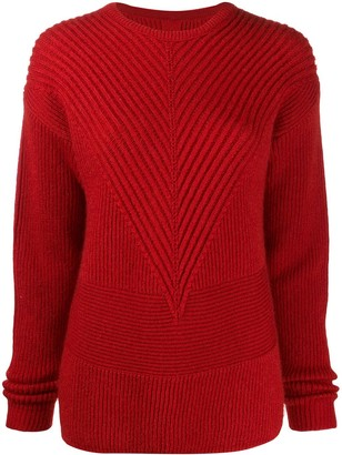 Rick Owens Ribbed Knit Jumper